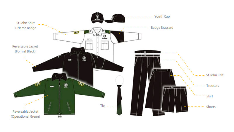 how to put on a cadet uniform